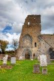 Ruinas de la abadía en Irlanda. Foto de archivo