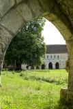 Ruinas de la abadía en Normandía Fotografía de archivo