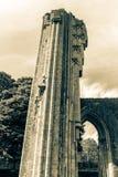 Ruinas de la abadía F de Glastonbury Fotografía de archivo