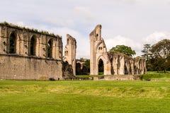 Ruinas de la abadía H de Glastonbury Fotos de archivo