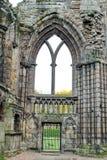 Ruinas de la abadía de Holyrood Fotos de archivo libres de regalías