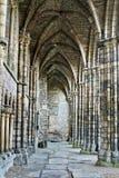 Ruinas de la abadía de Holyrood Foto de archivo libre de regalías