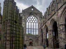Ruinas de la abadía de Holyrood Fotografía de archivo