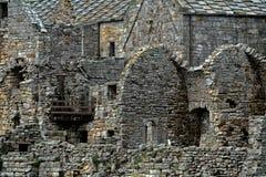 Ruinas de la abadía, isla de Inchcolm, Escocia Foto de archivo libre de regalías