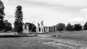 Ruinas de la abadía J de Glastonbury Imagenes de archivo