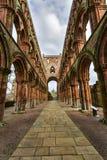 Ruinas de la abadía de Jedburgh en la región de fronteras del escocés en Scotla Foto de archivo