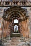 Ruinas de la abadía de Jedburgh en la región de fronteras del escocés en Scotla Imagen de archivo