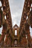Ruinas de la abadía de Jedburgh en la región de fronteras del escocés en Scotla Fotos de archivo