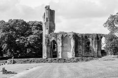 Ruinas de la abadía K de Glastonbury Fotografía de archivo libre de regalías