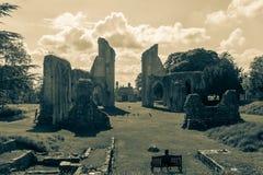 Ruinas de la abadía L de Glastonbury Imagen de archivo libre de regalías