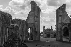Ruinas de la abadía M de Glastonbury Fotografía de archivo