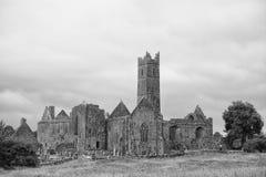 Ruinas de la abadía, Quin, Irlanda Foto de archivo libre de regalías