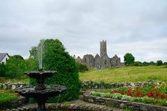 Ruinas de la abadía, Quin, Irlanda Imagen de archivo