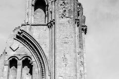 Ruinas de la abadía R de Glastonbury Fotos de archivo