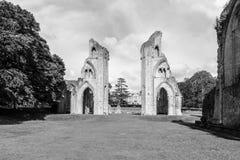 Ruinas de la abadía S de Glastonbury Fotos de archivo libres de regalías