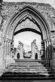 Ruinas de la abadía U de Glastonbury Imagen de archivo