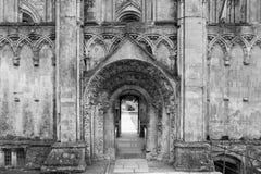 Ruinas de la abadía V de Glastonbury Fotos de archivo