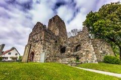 Ruinas de la abadía vieja de Sigtuna Fotos de archivo libres de regalías