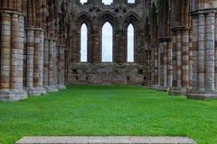 Ruinas de la abadía de Whithby Foto de archivo libre de regalías