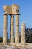 Ruinas de la acrópolis Foto de archivo libre de regalías