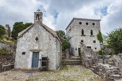 Ruinas de la barra vieja, Montenegro Imagen de archivo
