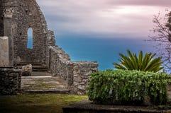 Ruinas de la basílica di Sant'Eustachio Imagenes de archivo