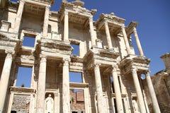 Ruinas de la biblioteca de Ephesus Fotos de archivo libres de regalías