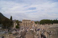 Ruinas de la calle de Ephesus Imagenes de archivo