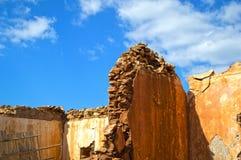 Ruinas de la casa Imagen de archivo libre de regalías