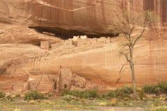 Ruinas de la Casa Blanca - Canyon de Chelly Foto de archivo libre de regalías