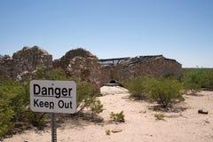 Ruinas de la casa de rancho de McDonald Imágenes de archivo libres de regalías