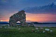 Ruinas de la casa del obispo en Iona Abbey Fotos de archivo
