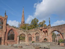 Ruinas de la catedral de Coventry imágenes de archivo libres de regalías