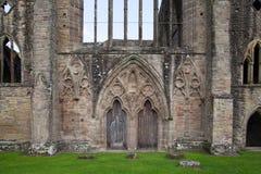 Ruinas de la catedral de la abadía de Tintern Imágenes de archivo libres de regalías