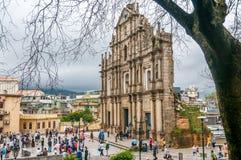 Ruinas de la catedral de San Pablo Foto de archivo libre de regalías