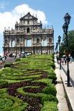 Ruinas de la catedral de San Pablo - fachada de piedra meridional fotografía de archivo libre de regalías