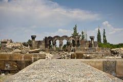 Ruinas de la catedral de Zvartnots Fotos de archivo