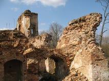 Ruinas de la cerradura de Krevsky Ladrillo rojo belarus Foto de archivo