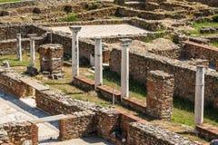 Ruinas de la ciudad antigua de Heraclea Lyncestis Foto de archivo