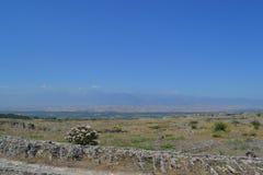 Ruinas de la ciudad antigua de Hierapolis Fotos de archivo libres de regalías