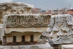 Ruinas de la ciudad antigua de Smyrna, Esmirna Fotos de archivo libres de regalías