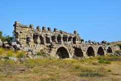 Ruinas de la ciudad antigua del lado Foto de archivo libre de regalías