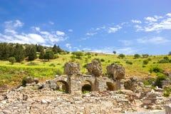 Ruinas de la ciudad antigua de Ephesus en Turquía imágenes de archivo libres de regalías