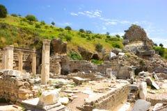 Ruinas de la ciudad antigua de Ephesus en Turquía imagen de archivo libre de regalías