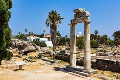 Ruinas de la ciudad antigua, Grecia Imagen de archivo