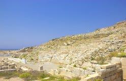 Ruinas de la ciudad antigua de Knidos en Turquía foto de archivo libre de regalías