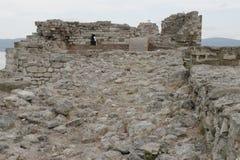 Ruinas de la ciudad antigua de Nessebar en Bulgaria Foto de archivo