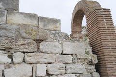 Ruinas de la ciudad antigua de Nessebar en Bulgaria Imagenes de archivo