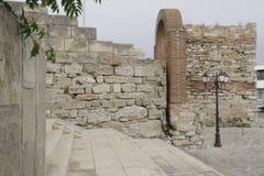 Ruinas de la ciudad antigua de Nessebar en Bulgaria Fotos de archivo libres de regalías