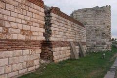 Ruinas de la ciudad antigua de Nessebar en Bulgaria Imagen de archivo libre de regalías